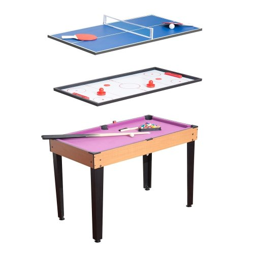 Homcom Billiards, Table Tennis & Ice Hockey Table | 3-in-1 Games Table