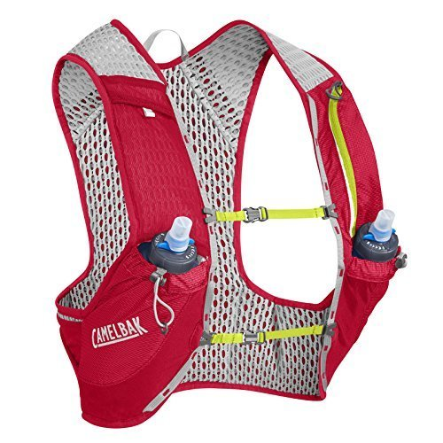 Camelbak Nano Vest 17 Oz Quick Stow Flask Hydration Pack Large Crimson Red Lime Punch