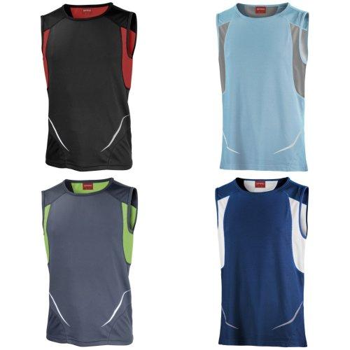 Spiro Mens Sports Athletic Vest Top
