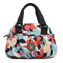 Women Waterproof Zipper Tote Bag Handbag Messenger Bag, Multicolored, Flower#2