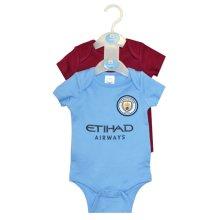 Manchester City 2pk Bodysuit 17/18 - 12/18 Months - Official Licensed 2 Pack -  official licensed manchester city 2 pack bodysuit 1218 months 1718