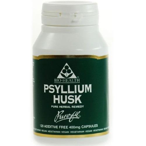 Bio Health Psyllium Husk 400mg Powdered Husk 120 Capsules