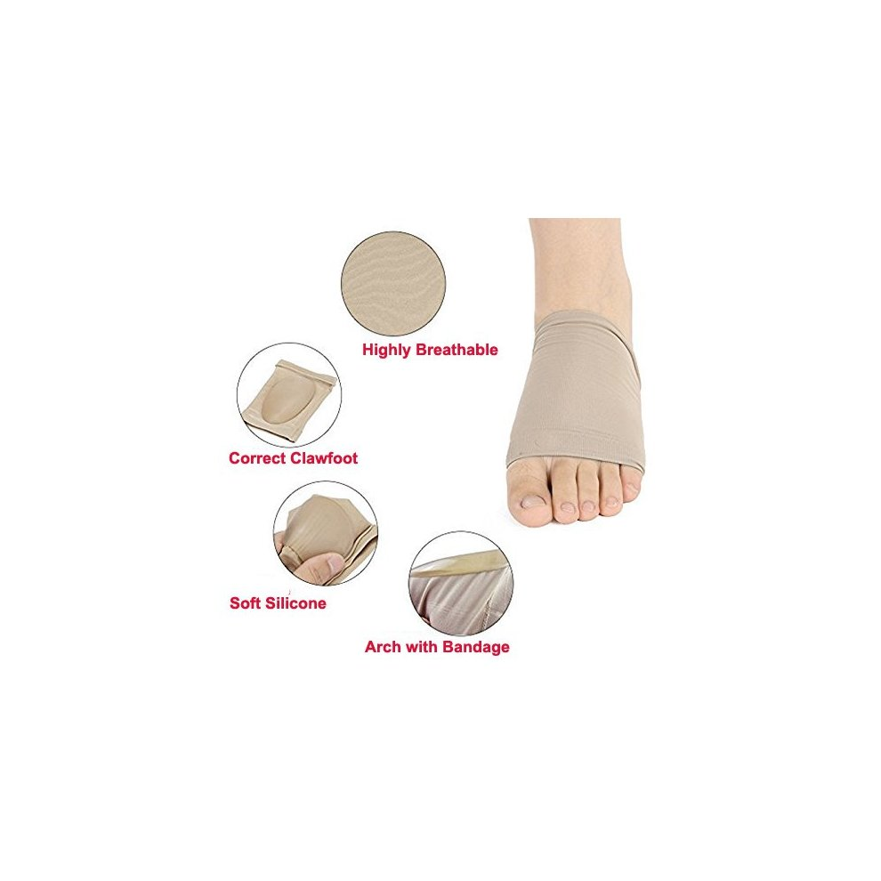 ac6983d364 ... Vinmax Arch Support Sleeves with Gel Cushion, Foot Arch Supports  Elastic Bandage Arch Flatfoot Orthotics ...