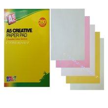 280 Page A5 Creative Paper Pads With 5 Assorted Colour Sections. -  a5 250 pages activity creative paper pad colours sheets arts crafts
