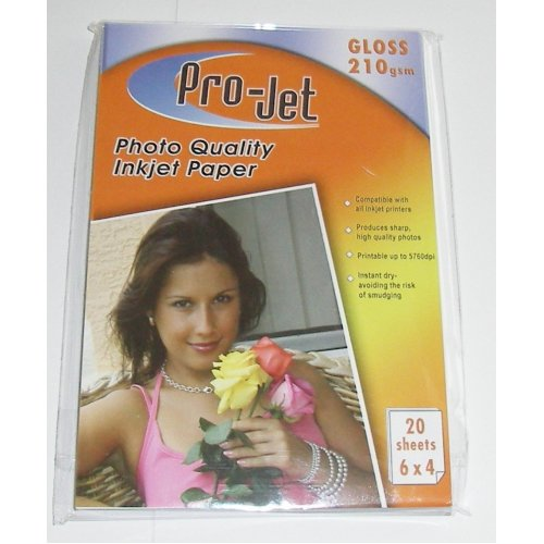 6x4 210gsm Projet Gloss Photo Paper