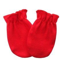 Warm Unisex-Baby Gloves Newborn Mittens Soft No Scratch Mittens, Red