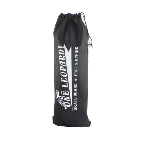 Waterproof Skateboard Bag & Oblique Bag Black  Thickening Backpack