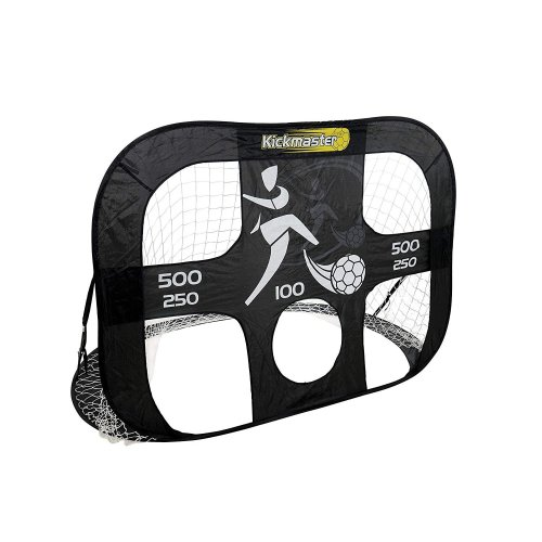 MV Sports Kickmaster Large Quick Up Football Goal & Target Shot 2 in 1 Portable Goal With In Built Target Shot Carry Bag Included Ages 5 Years+