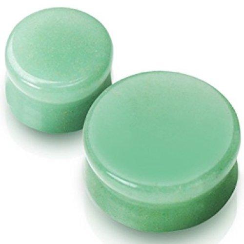 Solid Jade Semi Precious Stone Ear Tunnel Saddle Plug Piercing Finest Quality Materials