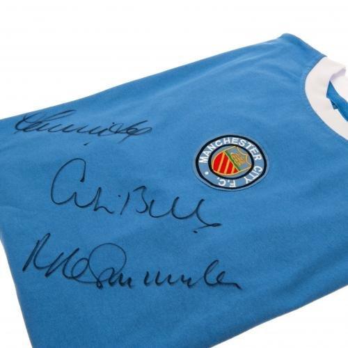 Manchester City F.C. Bell / Lee / Summerbee 1972 Signed Replica Shirt