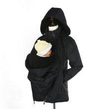 3 in 1 Warm Winter Maternity Baby Carrier Jacket - Weatherproof - Black