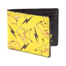 Pokemon All-over Pikachu Bi-Fold Wallet - Yellow (MW060821POK)