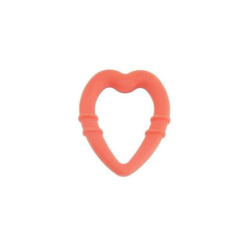 Gummee Baby Heart-Shaped Red Silicone Teething Ring Teether Toy 3 to 24 Months