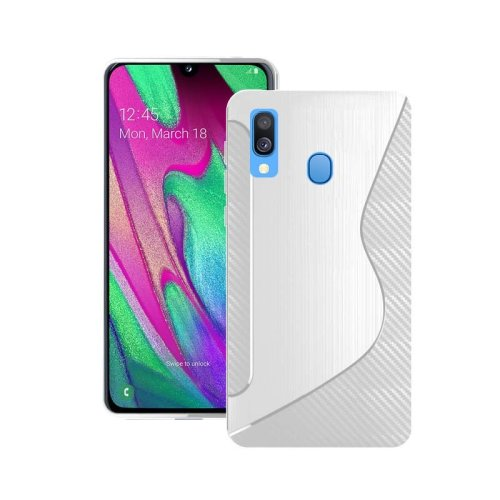 For Samsung Galaxy A40 2019 Silicone S-Line Gel TPU In Transparent Case Cover