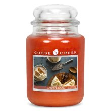 Goose Creek 24oz Large Scented 2 Wick Candle Jar Carrot Cake