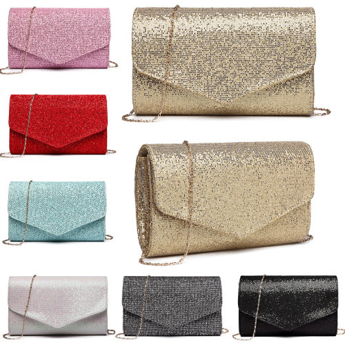 Miss Lulu Women Bling Evening Bag Clutch Handbag