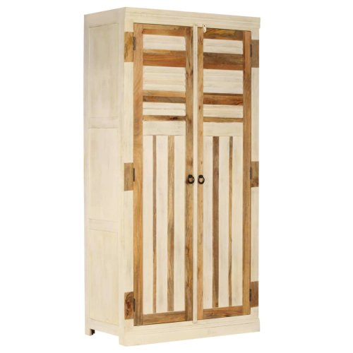 vidaXL Solid Mango Wood Wardrobe 100x50x200cm Bedroom Clothes Storage Unit