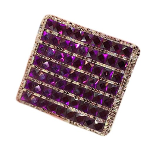Delicate Rhinestone Cigarette Case Cigar Case Cigarette Holder for Ladies, E