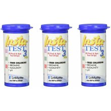 LaMotte 3x Insta-Test 3-Way Swimming Pool and Spa Test Strip (Tests for Chlorine, Bromine, pH and Alkalinity)
