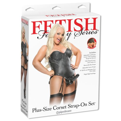 Pipedream Fetish Fantasy Series Plus Size Corset Strap-On Black