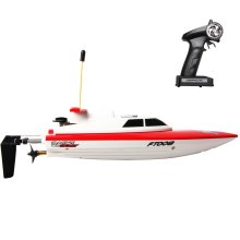 deAO RC Race Boat Remote Control High Speed Electric Racing Boat - Full Channel 14Km/H & 25m Range 27mHz