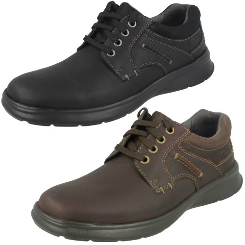 Mens Clarks Casual Shoes Cotrell Plain - G Fit