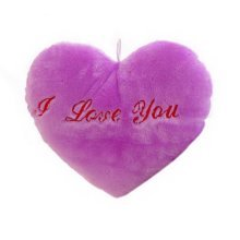 Luminous Plush Toys Pillow Romantic Valentine's Day Gift For Girl, Purple Pillow