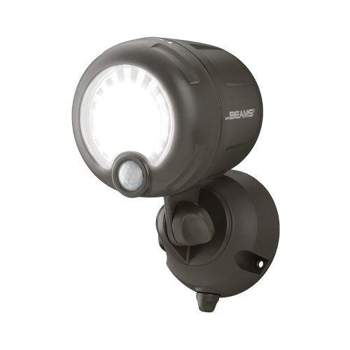 Mr Beams Wireless Battery Operated Outdoor Motion Sensor Activated Led Spotlight Plastic Brown 200 Lm On