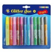 Pbx2420005 - Playbox - Glitter Glue - 12 Pcs