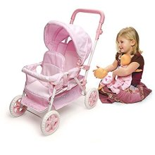 Badger Basket Folding Double Doll Stroller