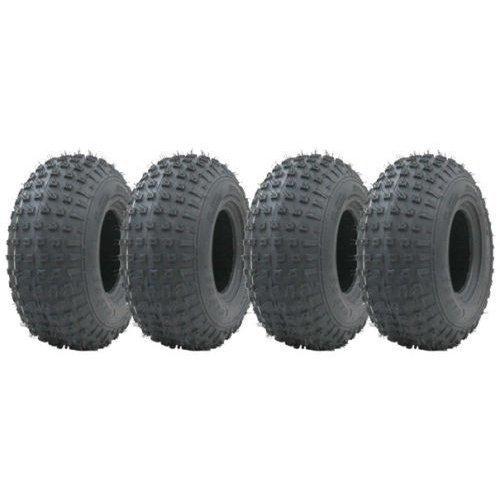 145/70-6 knobby ATV tyre Quad trailer wheels 75kg Wanda set of 4