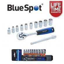 "BlueSpot 12pc 1/4"" Ratchet & Socket Set 