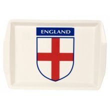 16x11 Plastic England Design Drinks Serving Tray -  new makeup cosmetic magnifying mirror shaving travel
