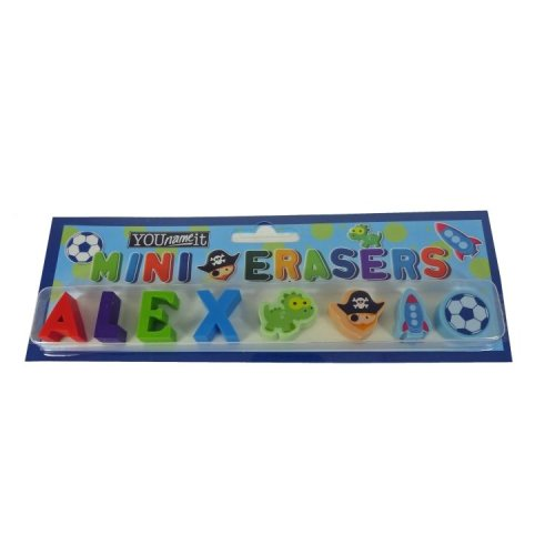 Childrens Mini Erasers - Alex