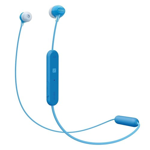Sony WI-C300 Wireless Bluetooth In-Ear Headphones Blue With Microphone & NFC