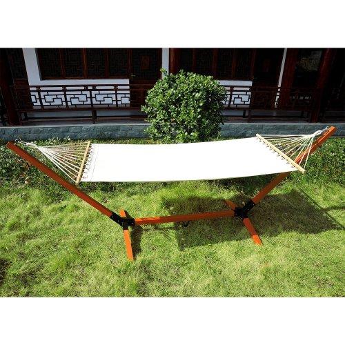 Outsunny Wooden Hammock Bed | Single Hammock Bed