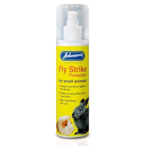 Johnson's Fly Strike Protector Flea Killer Spray for Small Animals, 150ml
