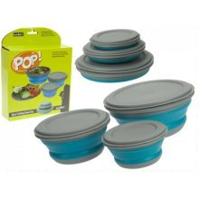 Summit Pop 3 Piece Blue Bowl Set. -  up bowls summit collapsable pop camping laundry baskets washing