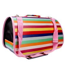 M Size Carry Bag Sweet Cute Pet Home Dog Cat Carrier House Travel---Rainbow