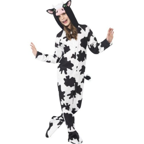 c6760f7a0678 Smiffy's Children's Unisex All In One Cow Costume, Jumpsuit With Tail And  Ears, - costume dress fancy cow animal boys girls kids book week childrens  on ...