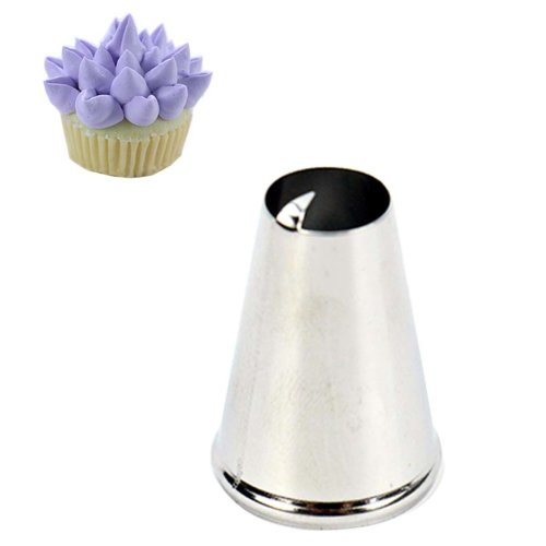 Household Cake Making Nozzles Tips Stainless Steel Pastry Tube, 5 pieces