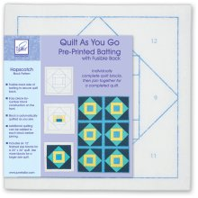 June Tailor Quilt As You Go Printed Quilt Blocks On Batting-Hopscotch