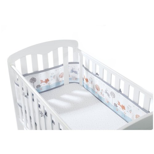 Breathable Baby Mesh Cot/Cotbed Liner 4 Sided - Enchanted Forest