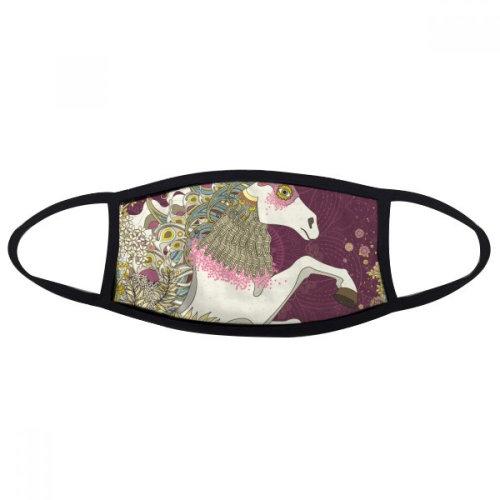 Japan Wing Hourse Ukiyo-e Leaves Face Anti-dust Mask Anti Cold Maske Gift