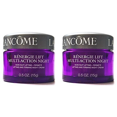 Renergie Lift Multi Action Night Lifting And Firming Night Cream For All Skin Types 2 Jars 0 5 Oz Each