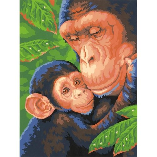 "Dpw91470 - Paintsworks Learn to Paint 9"" X 12""- Chimp & Baby"