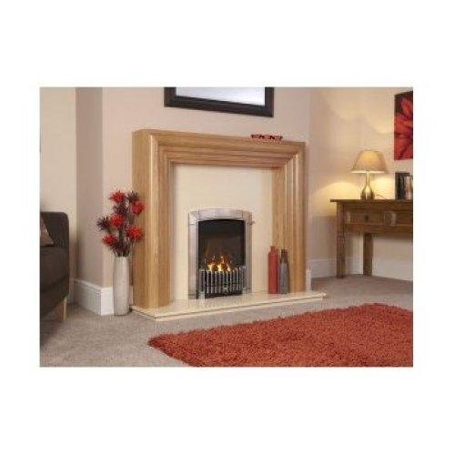 Designer Fire - Flavel FHEC3RRN2 Silver Caress Contemporary HE Gas Fire - RC