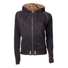 Assassins Creed Syndicate Adult Brotherhood Crest Zipper Hoodie - Black/Bronze