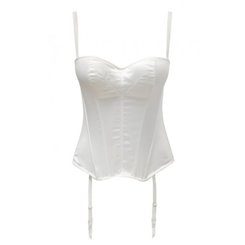 Masquerade Womens Tiffany Basque size 34FF in Ivory
