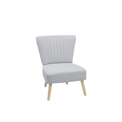 Fabric Armchair Light Grey VAASA